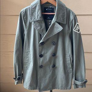 RARE Nautica Jeans Co olive green light coat